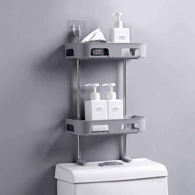 벽 부착형 욕실 선반/다용도 화장실 변기선반 수납정리 젠다이 화장실 욕실 주방 [HY]