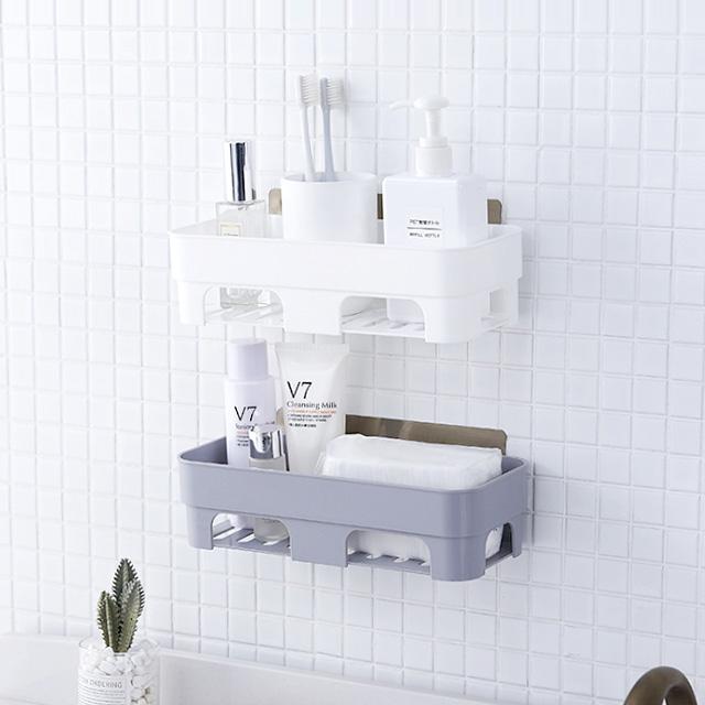 벽 부착형 플라스틱 바구니/다용도 바스켓 수납함 정리함 포켓 화장실 욕실 주방 [HY]