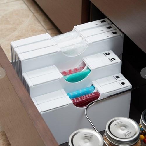 비닐봉투 정리함(3size)/비닐봉지정리함 비닐정리함 비닐봉지보관함 [ZM]