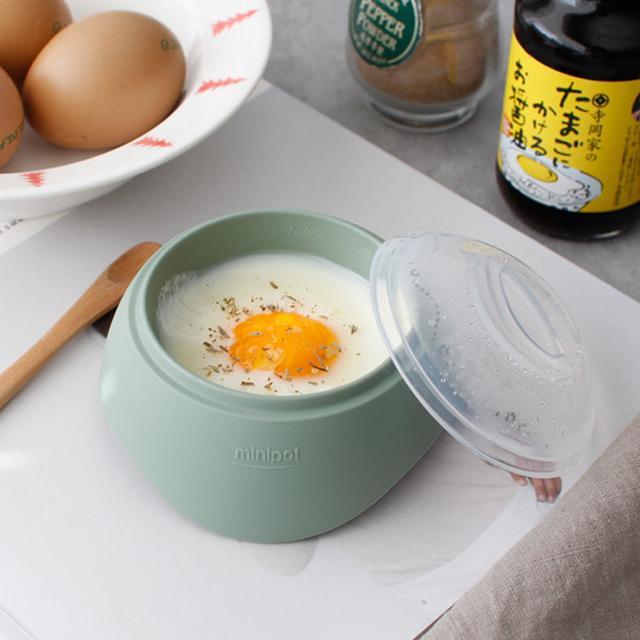 (국산) 파스텔 실리콘 계란 반숙기 (전자렌지 1분) - 3color [YE]