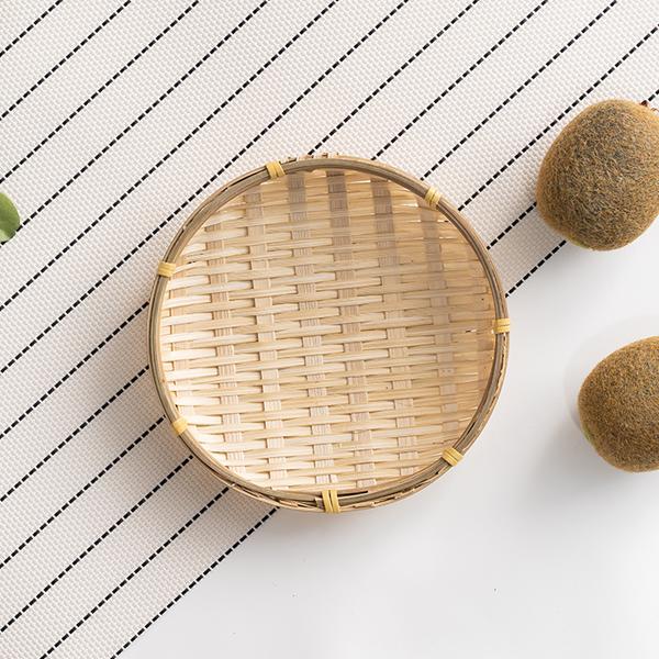 대나무 팝콘 미니 바구니 라탄 채반