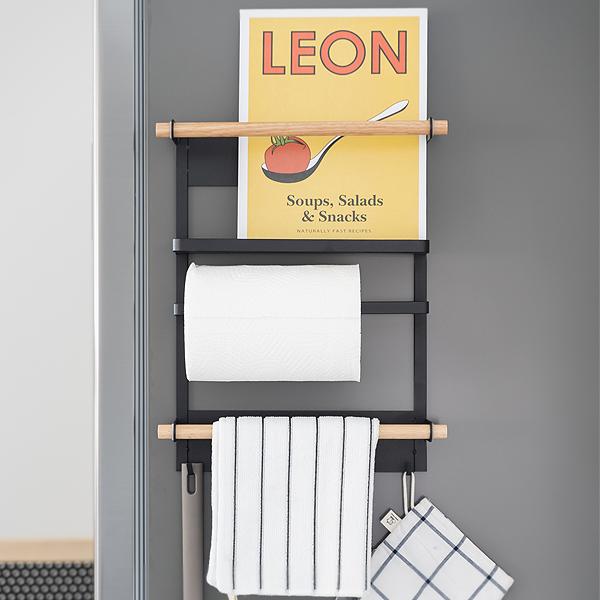 [모토] 철제 자석 냉장고 벽선반 자석선반 키친타올걸이
