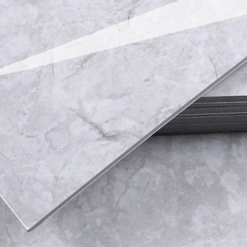 3T접착식 데코타일 (TL-06) 유광 대리석 마블그레이_간편시공 스티커형
