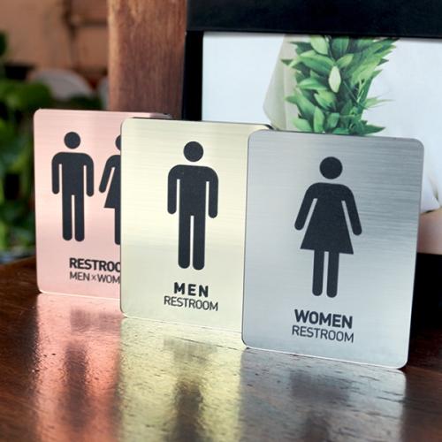 메탈 화장실사인 화장실표지판