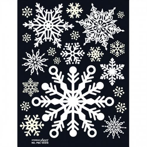 크리스마스 스티커(PSC-61016) 스노우플라워-L2/눈꽃스티커