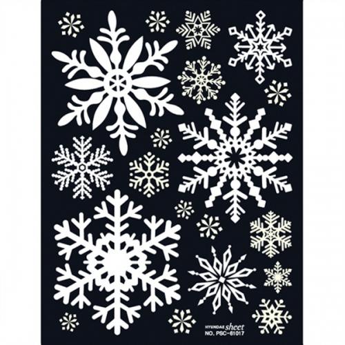 크리스마스 스티커(PSC-61017) 스노우플라워-M1/눈꽃스티커