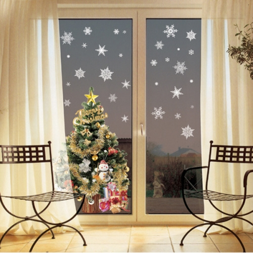 크리스마스 스티커(PSC-58038) 눈꽃 화이트펄