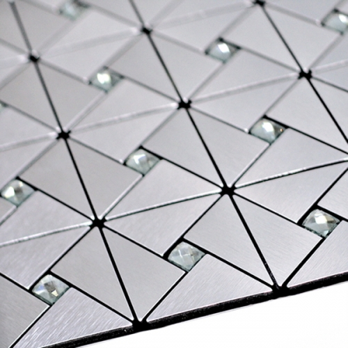 점착식 알미늄 메탈타일 크리스탈 실버75mm (HMT99312)