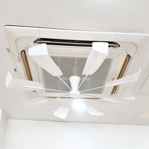 천장형 에어컨 시스템 무동력 공기 순환 바람 개비 순환기 실링 씰링 실프 팬