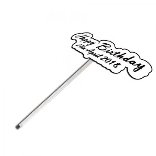 아크릴 투명 막대 봉 케이크 토퍼 환갑, 백일, 여행