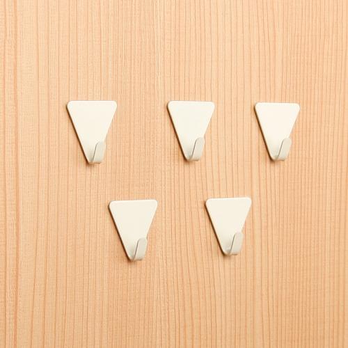 [KM] 미니 벽걸이 삼각 접착후크 5P [202]
