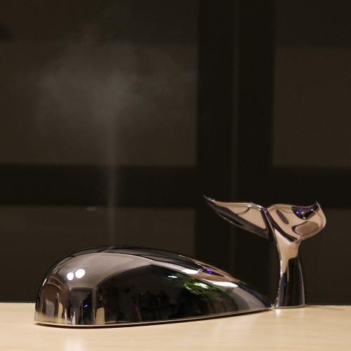 고래 아로마 디퓨저 메탈크롬 Ultrasonic Whale Aroma diffuser metal chrome