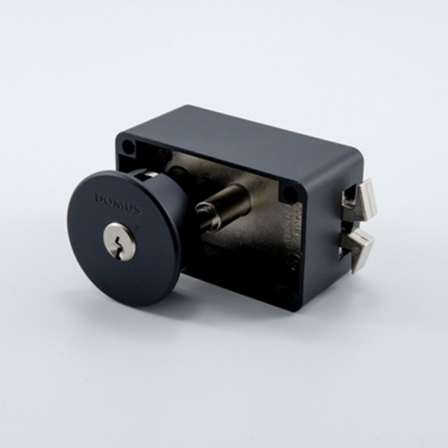 도무스 미닫이문 노출형 슬라이딩락 DSL 190BK 블랙(열쇠용) KEY