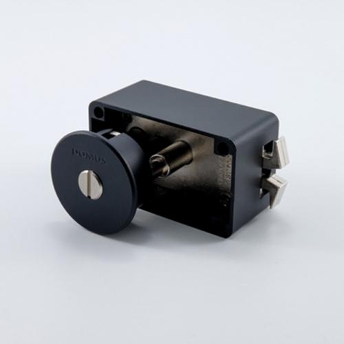도무스 미닫이문 노출형 슬라이딩락 DSL 190BK 블랙 (욕실용) 동전KEY