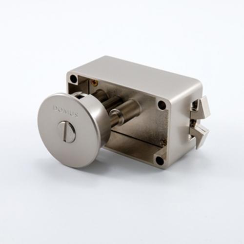 도무스 미닫이문 노출형 슬라이딩락 DSL 190NI 니켈 (욕실용) 동전KEY