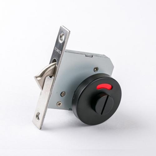 도무스 미닫이문 슬라이딩락 DSL 120BK 블랙 (욕실용) 동전KEY 시건장치 표시정