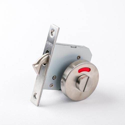 도무스 미닫이문 슬라이딩락 DSL 120SS 실버 (욕실용) 동전KEY 시건장치 표시정