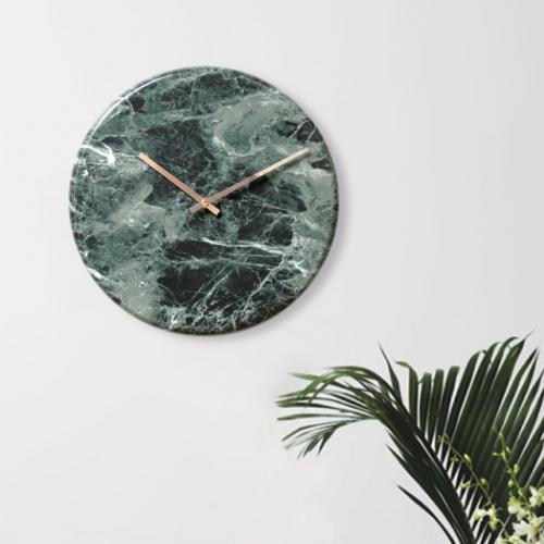 대리석라운드벽시계-그린