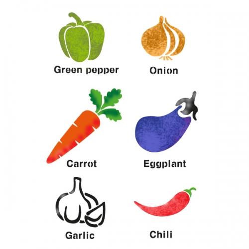 스텐실 도안(ST-2011) 야채들