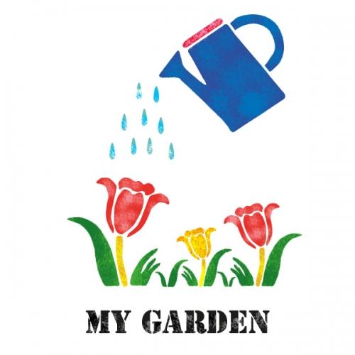 스텐실 도안(ST-2098) 나의 정원