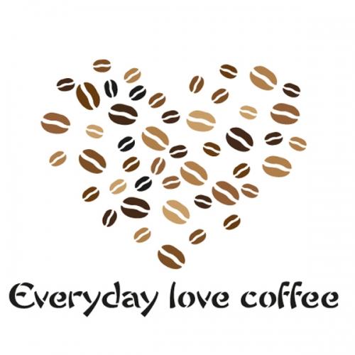 스텐실 도안(ST-2107)커피사랑