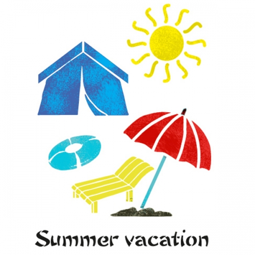 스텐실 도안 (ST-2116)여름방학
