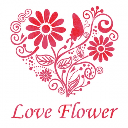 스텐실 도안 (ST-3005)사랑꽃