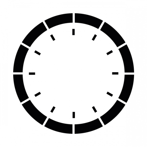 스텐실 도안(ST-3022)엘레강스 시계