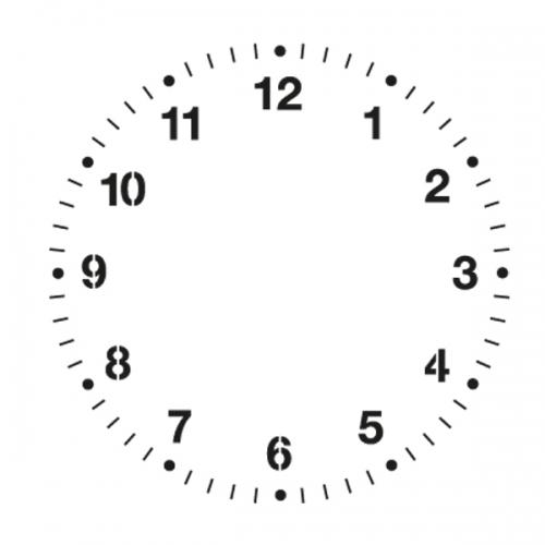 스텐실 도안(ST-5042) 로맨틱 시계