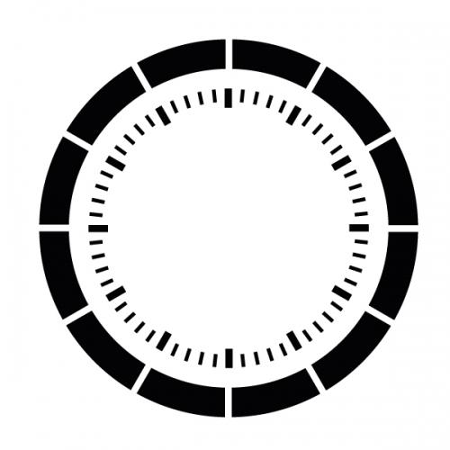 스텐실 도안(ST-5043) 엘레강스 시계