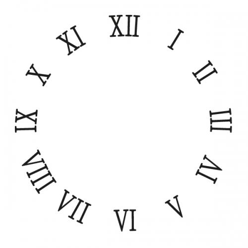 스텐실 도안(ST-5044) 로마숫자 시계