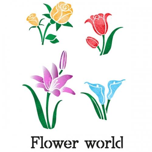스텐실 도안(ST-5016)꽃세상