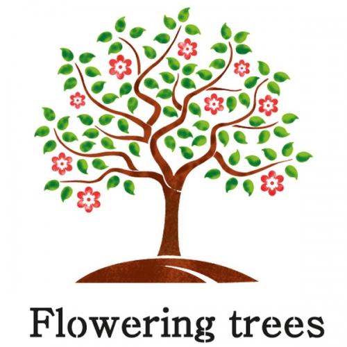 스텐실 도안(ST-8002) 내마음의 꽃나무