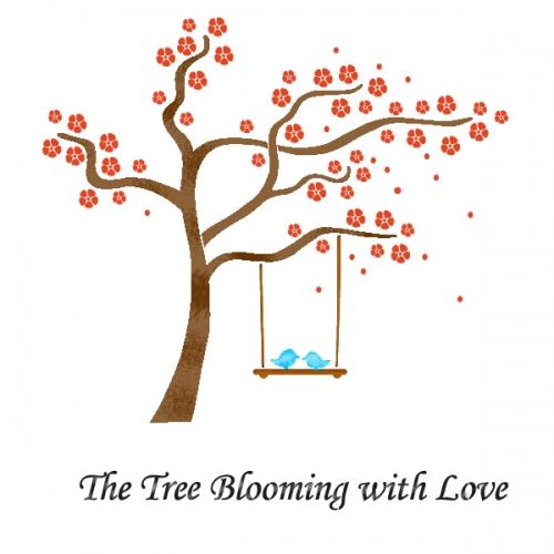 스텐실 도안(ST-8004) 사랑이 꽃피는 나무