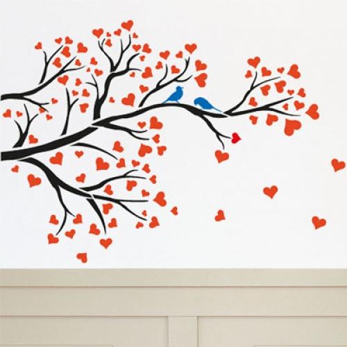 벽화 스텐실 도안(MF-1509) 사랑나무