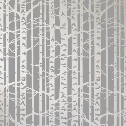 벽화 스텐실 도안(MF-2007) 자작나무숲을 찾아서
