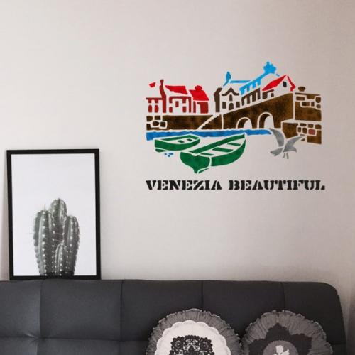 벽화스텐실 도안(MF-1504) 배네치아