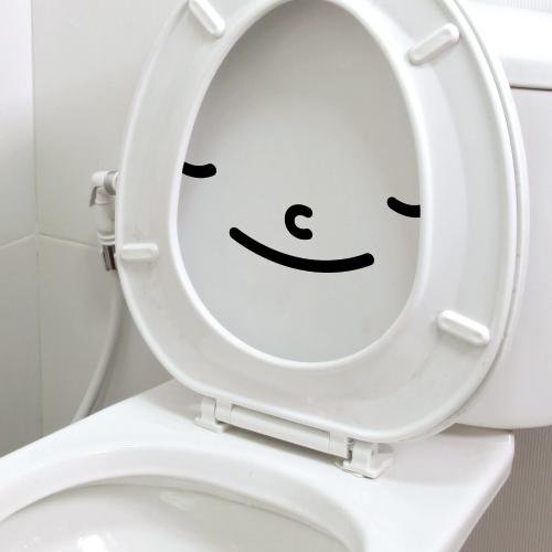 웃는얼굴 화장실 스티커 해피스마일