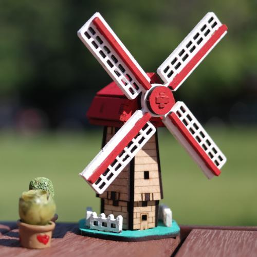 [ 모또 나무 미니어처] 세계 랜드마크 네덜란드 풍차