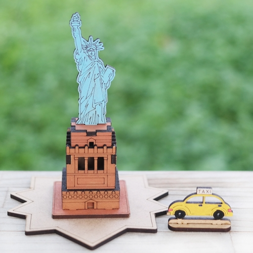 [ 모또 나무 미니어처] 세계 랜드마크 미국의 자유의 여신상