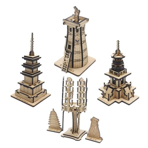 [ 모또 나무 미니어처] 한국사 신라의 문화유산 입체퍼즐 4종 만들기