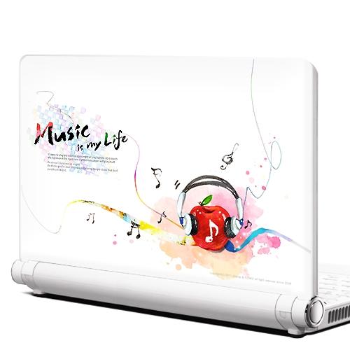 NB40-Music is my life-노트북데코스킨