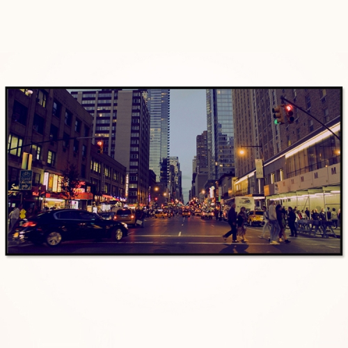 와이드 액자/ FA352 뉴욕의 밤거리 - 알루미늄 대형  슬림 모던 액자