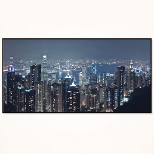 와이드 액자/ FA360 환상적인 홍콩 야경 - 알루미늄 대형  슬림 모던 액자