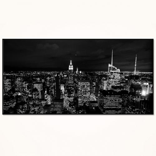 와이드 액자/ FA362 뉴욕의 밤  - 알루미늄 대형  슬림 모던 액자