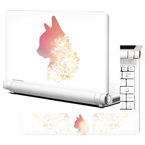 NB321 노트북스킨 네추럴고양이 흰색배경