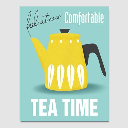캔버스액자 / CAS427 북유럽 스타일 포스터-TEA TIME3 북유럽 인테리어