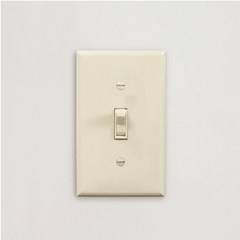 Toggle Switch plate Standard_Ivory(Plain)