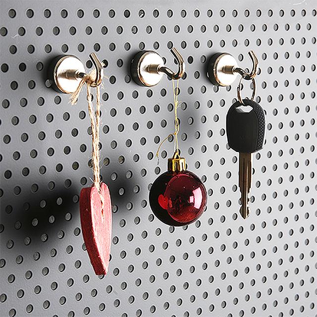 네오디움 강력 고리자석 / 냉장고 마스크 자석걸이 2color 3size