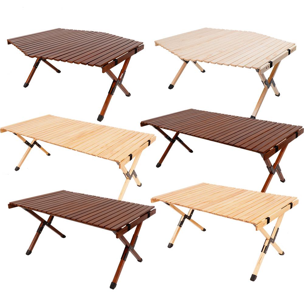 캠핑상회 접이식 원목 롤테이블 감성 우드 캠핑용 테이블